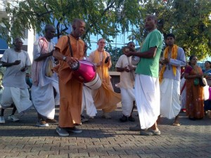 Harinama in Port of Spain lead by Agnideva prabhu